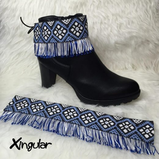 Cubrebotas Flecos #06 Azul-Blanco Xingular