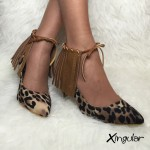 flecos piel leopardo stilettos xingular par