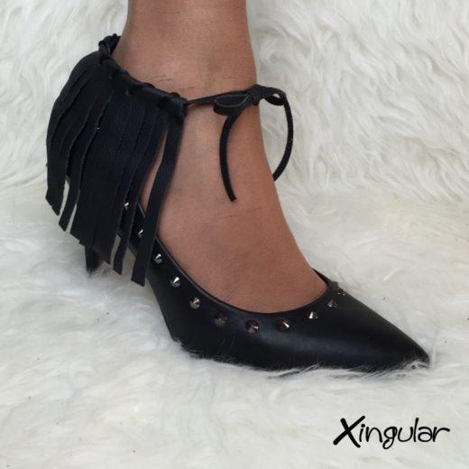 flecos piel negra stilettos xingular