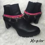 pulsera botas fatima rosa y etnico rosa par