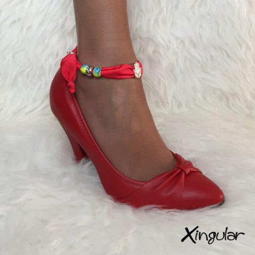 Pulsera Seda Roja para Zapatos