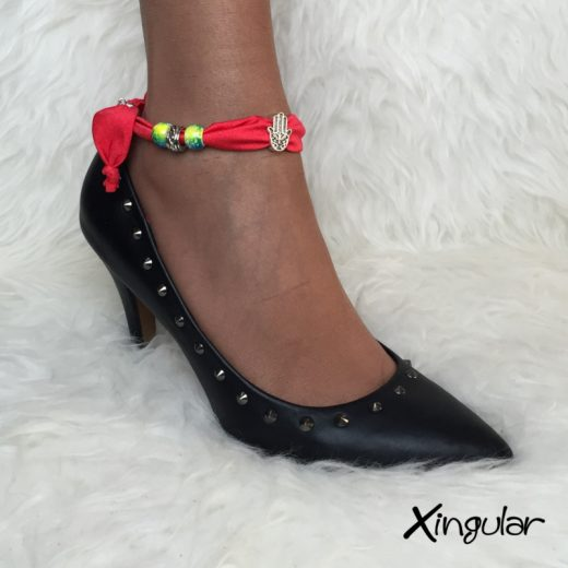 pulsera seda roja stilettos xingular stiletto negro