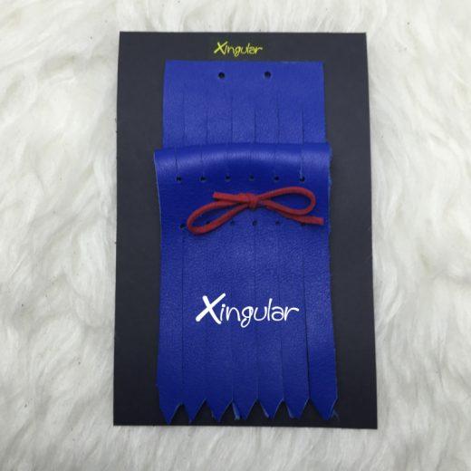 flecos piel deportivas azul electrico packing