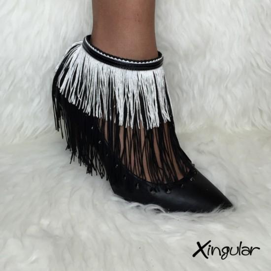 Flecos Seda Blancos y Negros para Stilettos