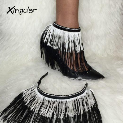 flecos seda negro y blanco stilettos negros xingular muestra