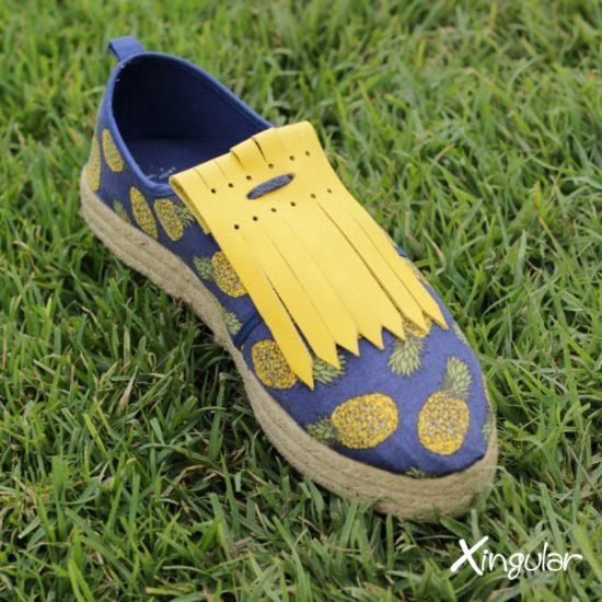 Flecos Piel Amarillo Mostaza para deportivos