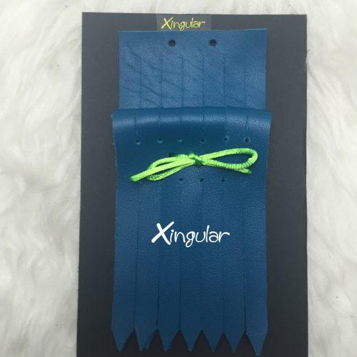 Flecos Piel Azul Turquesa para deportivos pack