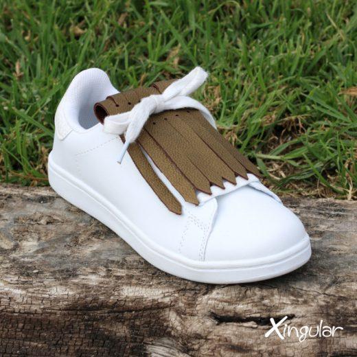 flecos zapatillas bronce