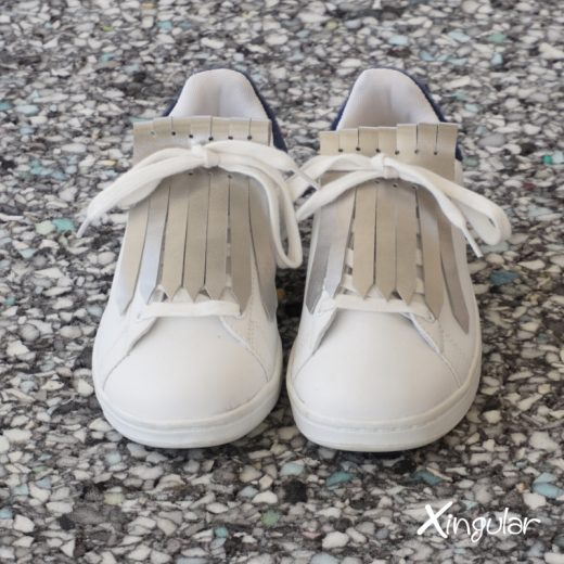 flecos zapatillas plateados par juntos 2018