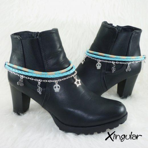 pulsera-botas-etnico-azul-y-naranaja-y-trenzado-azul-par