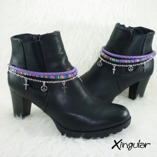 pulsera-botas-etnico-violeta-y-trenzada-violeta-par