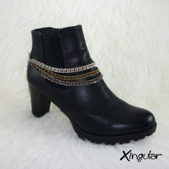 Pulsera Botas Rockera Cadena Triple Color