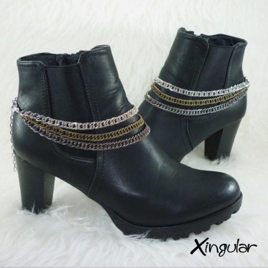 pulsera-botas-rockera-cadena-triple-color-par