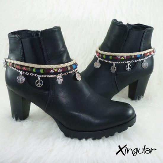 pulsera-botas-etnico-burdeos-colorido-y-trenzado-beige-par