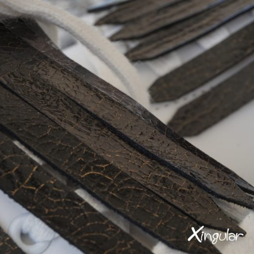 flecos zapatillas tornasolado detalle 2018