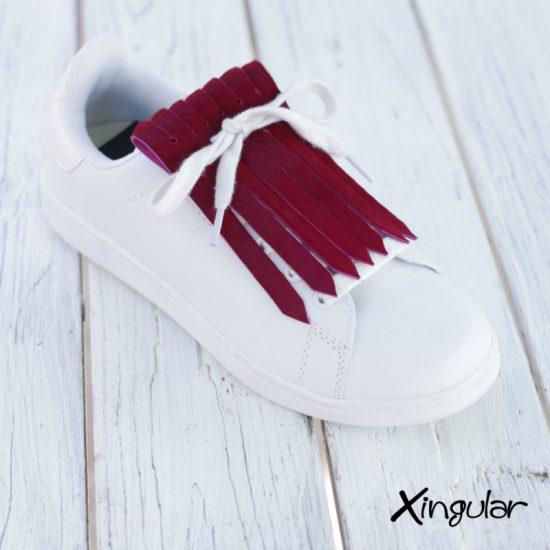 Flecos zapatillas burdeos