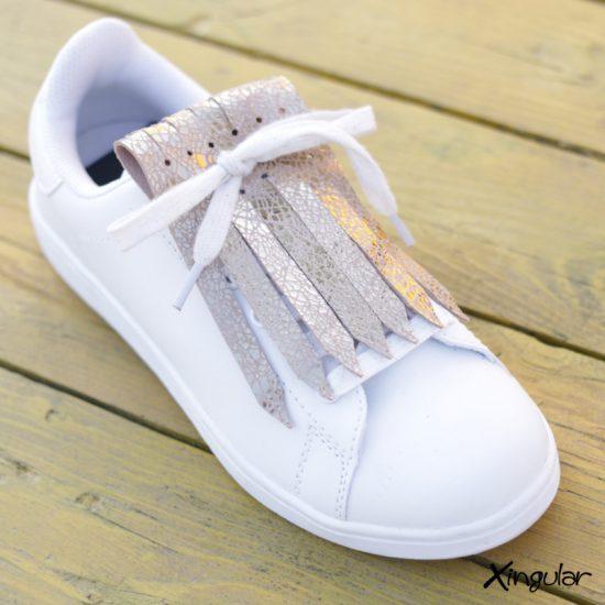 Flecos zapatillas dorado cuarteado