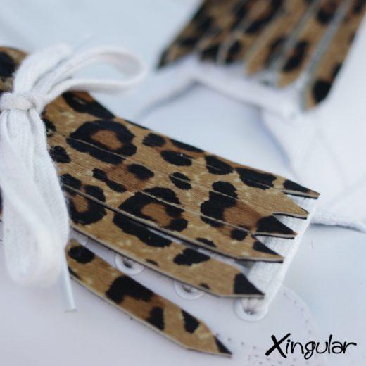 flecos zapatillas leopardo detalle