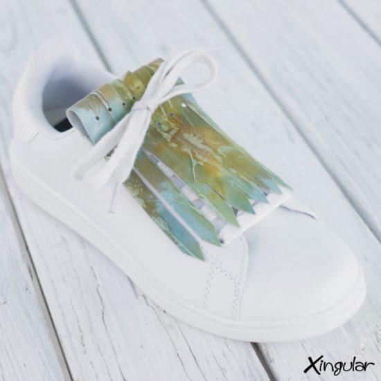 Flecos Zapatillas Camuflaje Dorada
