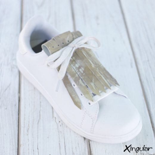 Flecos Zapatillas Camuflaje Plata