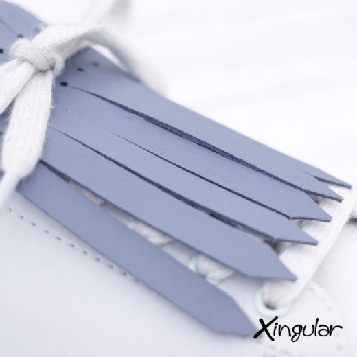 flecos zapatillas azul aireado detalle