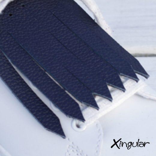 flecos zapatillas azul marino detalle 2