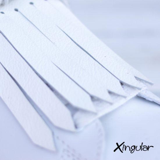 flecos zapatillas blanco detalle