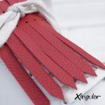 flecos zapatillas rojo detalle