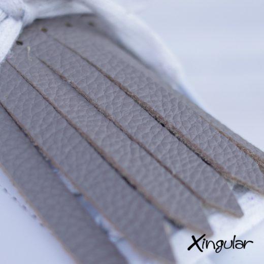 flecos zapatillas taupe detalle