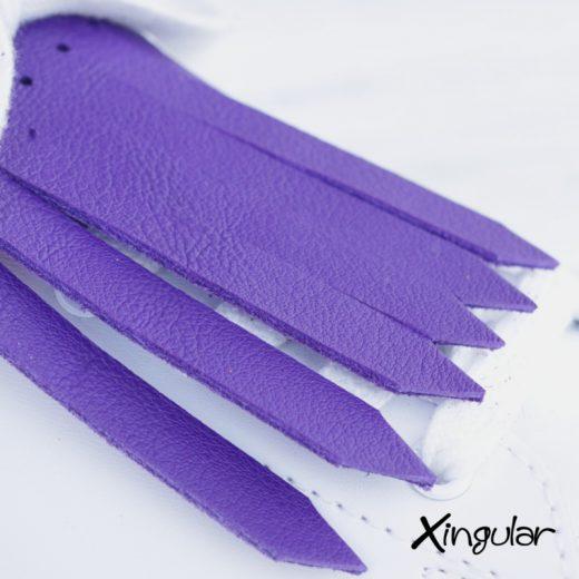 flecos zapatillas violeta detalle