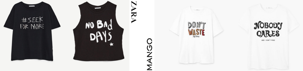 Camisetas-con-mensaje-Zara-y-Mango.