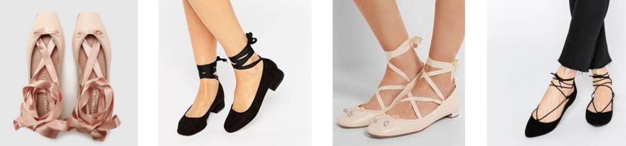Cómo vestir en primavera bailarinas lace up