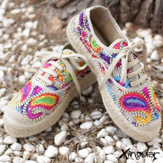 Sneakers Yute Talima Beige Mujer par