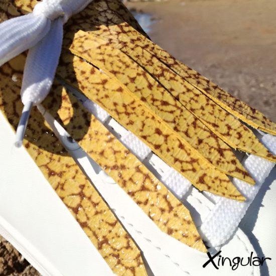 flecos zapatillas murano mostaza detalle