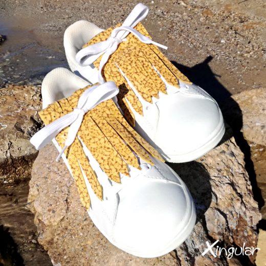 flecos zapatillas murano mostaza par