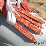 flecos zapatillas murano rojo detalle