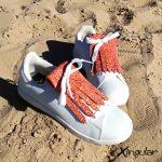 flecos zapatillas murano rojo par