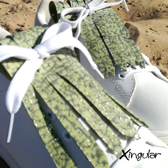 flecos zapatillas murano verde detalle