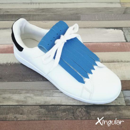 flecos zapatillas azul claro