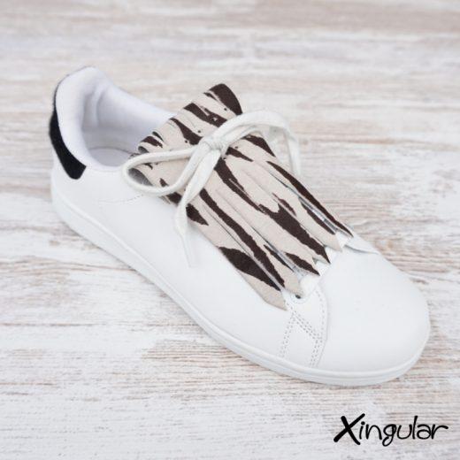 Flecos zapatillas cebra