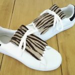 flecos zapatillas cebra par
