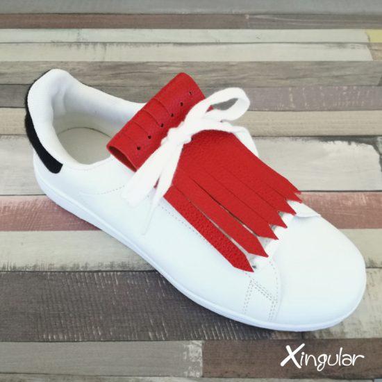 flecos zapatillas rojo vivo
