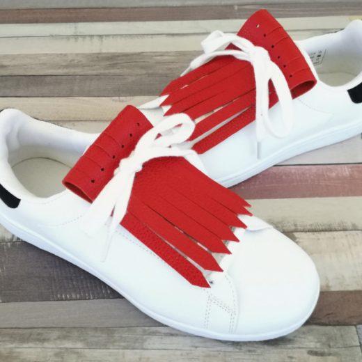flecos zapatillas rojo vivo par