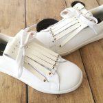 flecos zapatillas swarovski dorado par