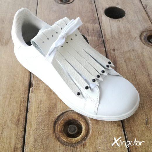 flecos zapatillas swarovski negro