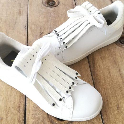 flecos zapatillas swarovski negro par
