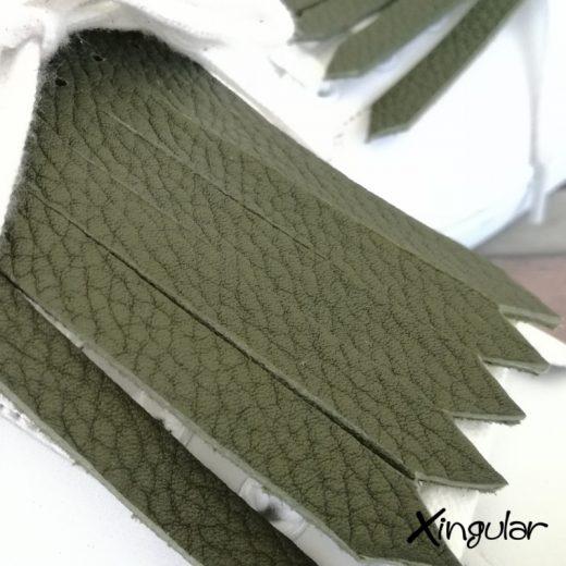 flecos zapatillas verde bosque detalle