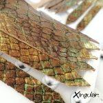 flecos zapatillas serpiente camuflaje detalle