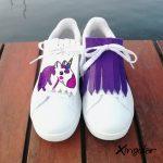 flecos zapatillas unicornio violeta par
