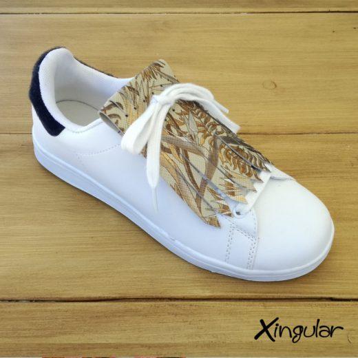 flecos zapatillas Strelitzia dorada